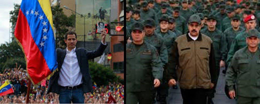 Guaidó and Maduro