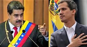 Maduro och Guaidó